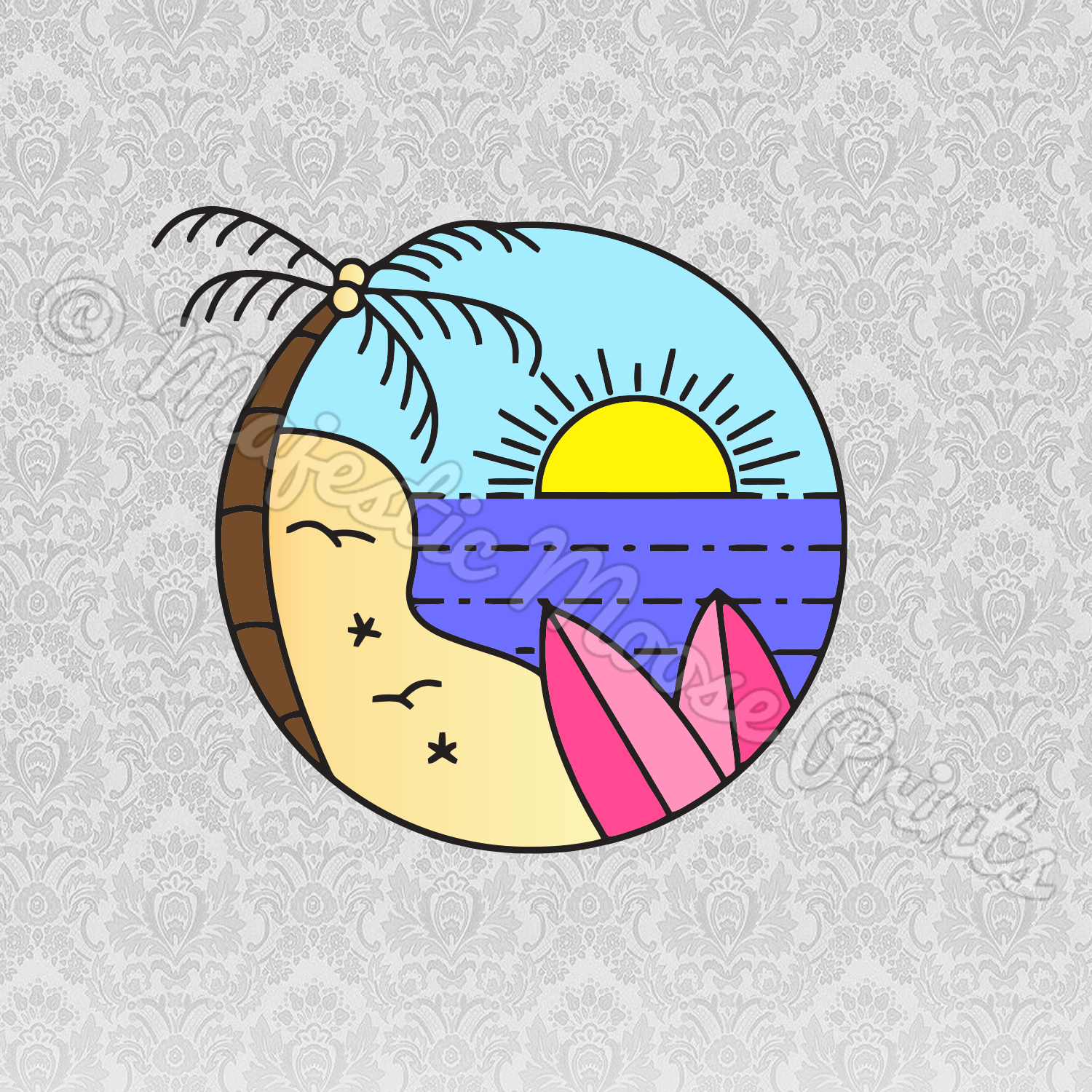 Beach Frame SVG