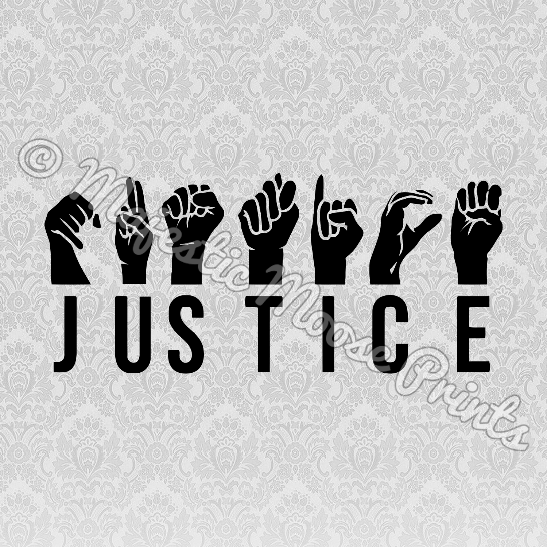 Justice Sign Language SVG