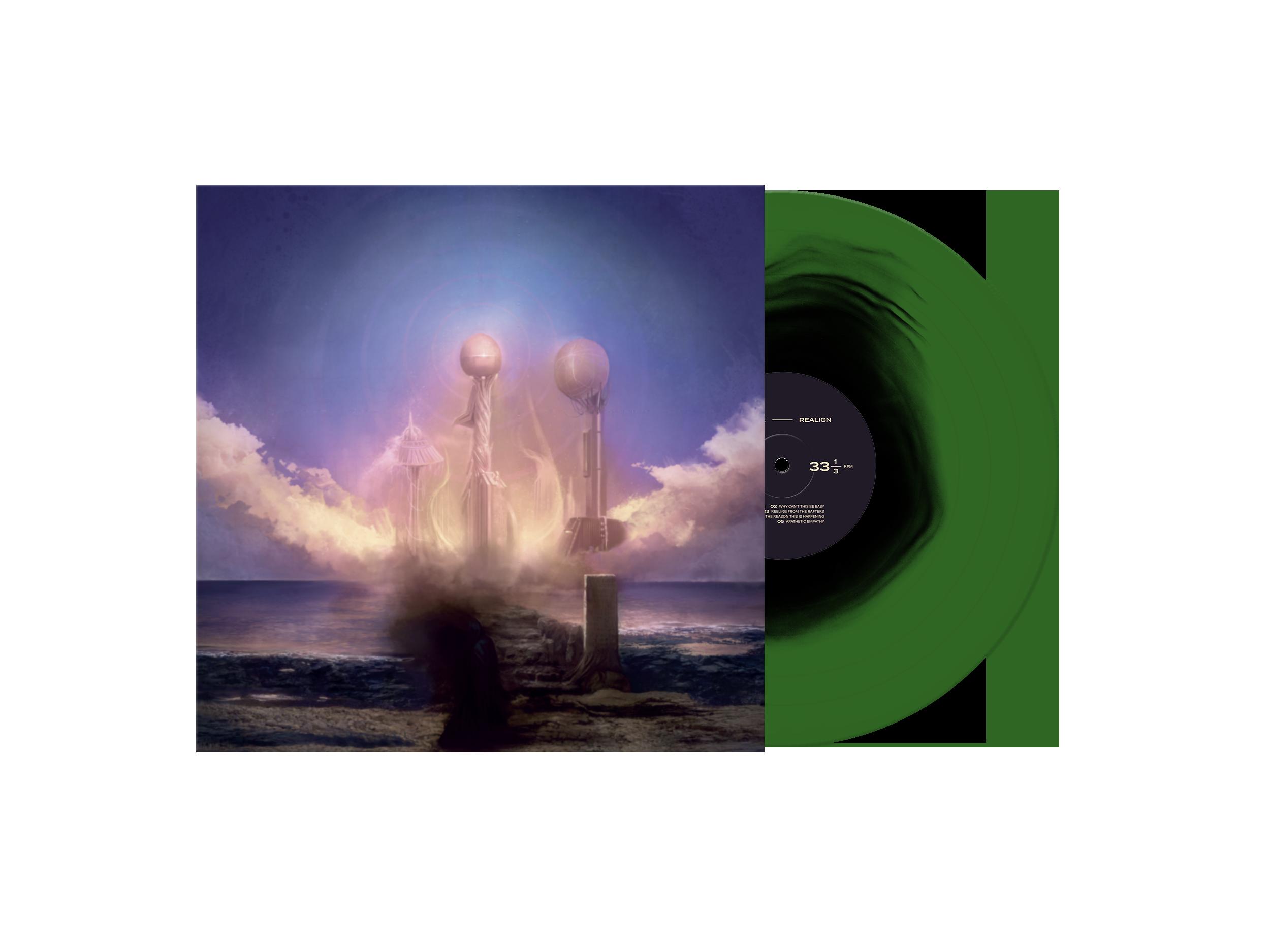 Realign Green/Black LP + Tee