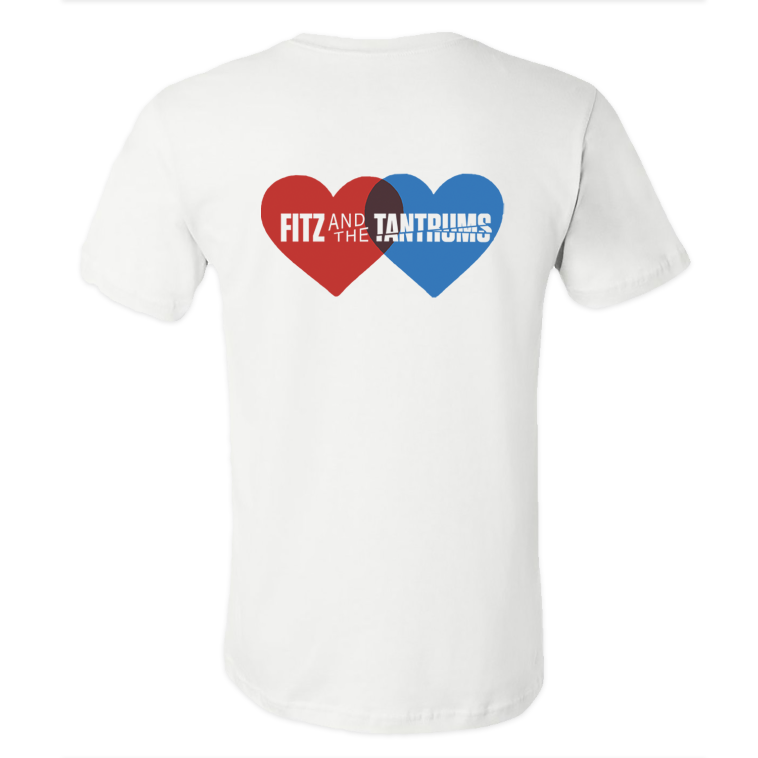 Fitz and The Tantrums - Heart Logo White T-Shirt