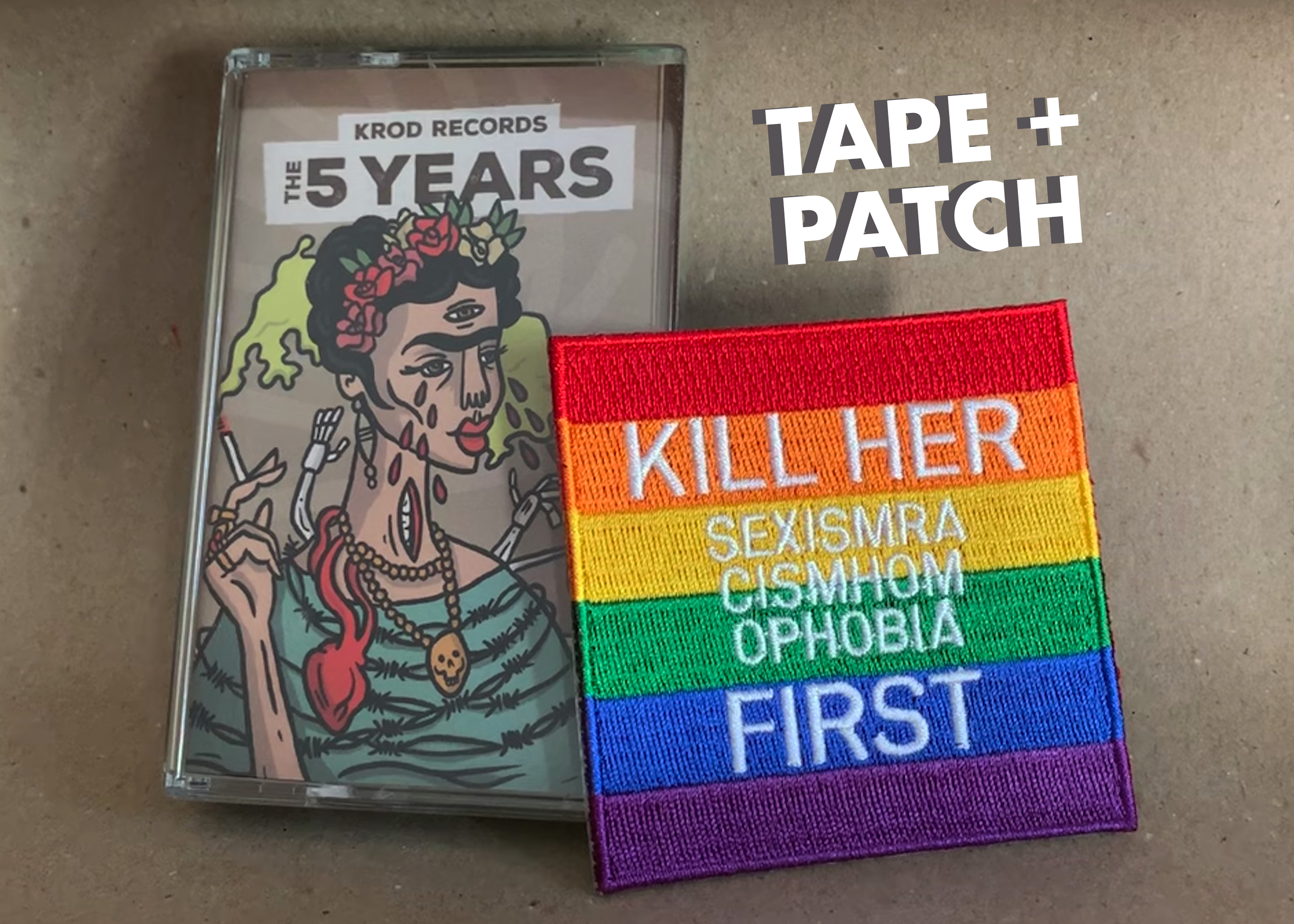 Kill Her First Rainbow Patch // Krod Records Tape
