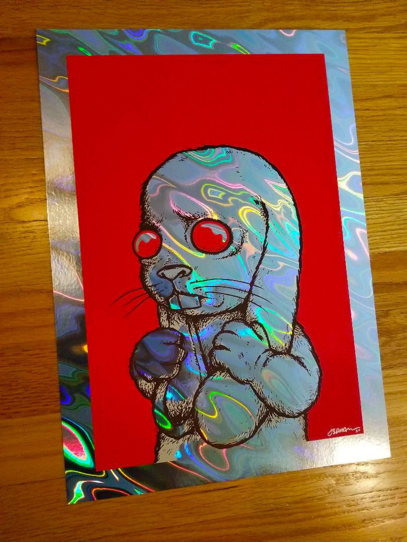 'I have to snap out of this.' Art Print (Gallery & Holographic Lava Foil Editions)