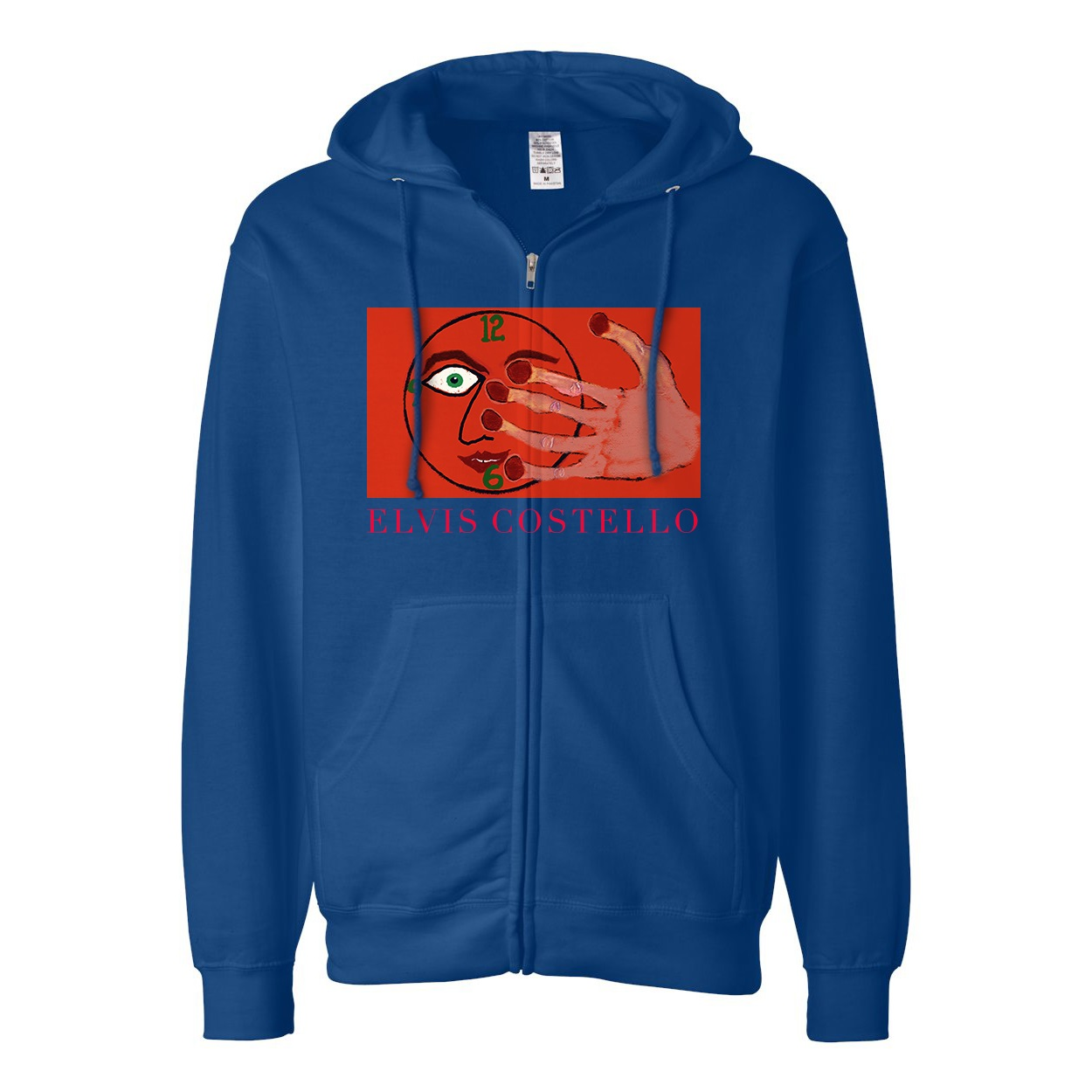 Hey Clockface royal blue zipped hoodie + 2xLP vinyl/CD/download (optional)