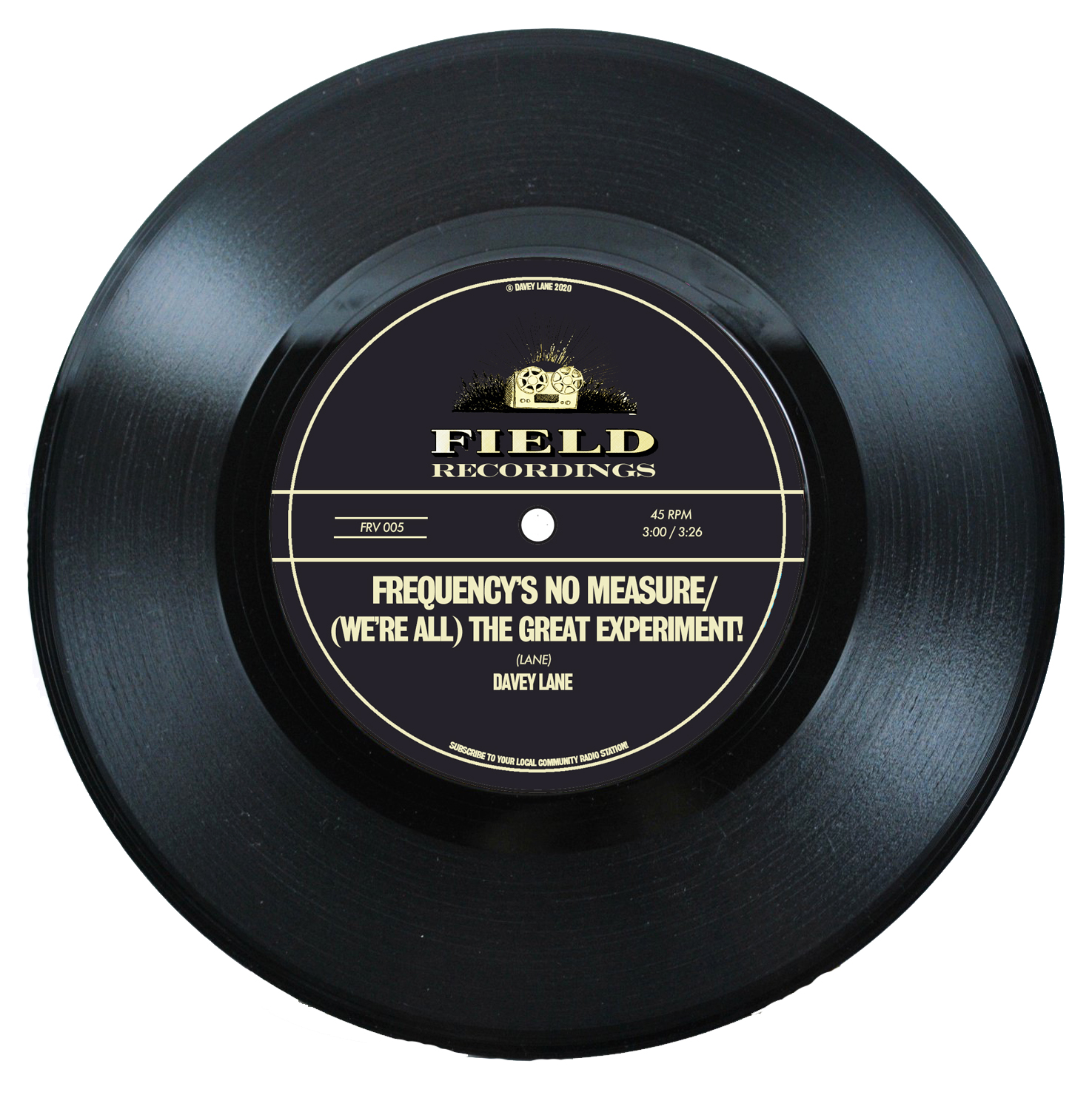 Frequency's No Measure / (We're All) The Great Experiment! - 7' Vinyl Single.