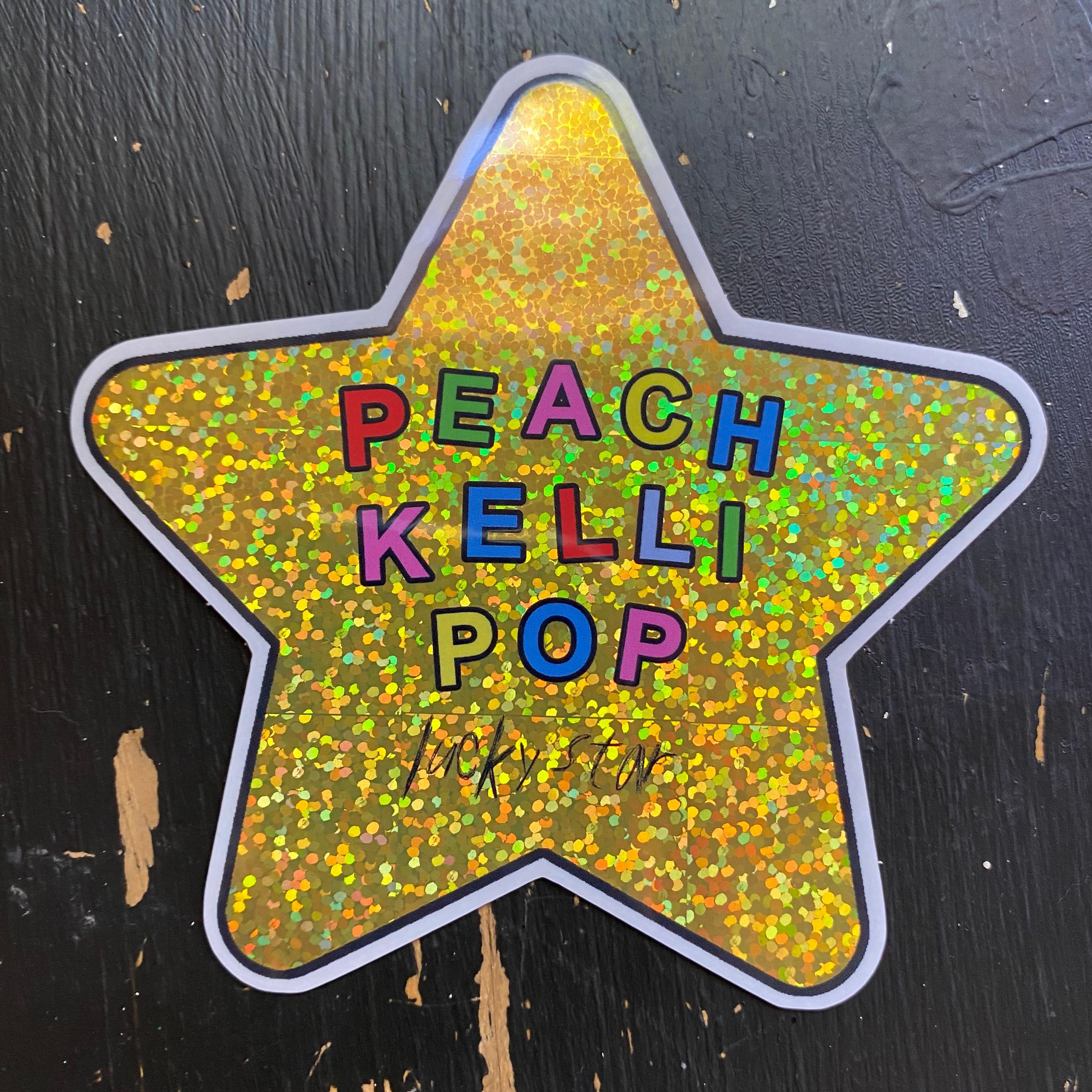 Peach Kelli Pop - Lucky Star Sticker