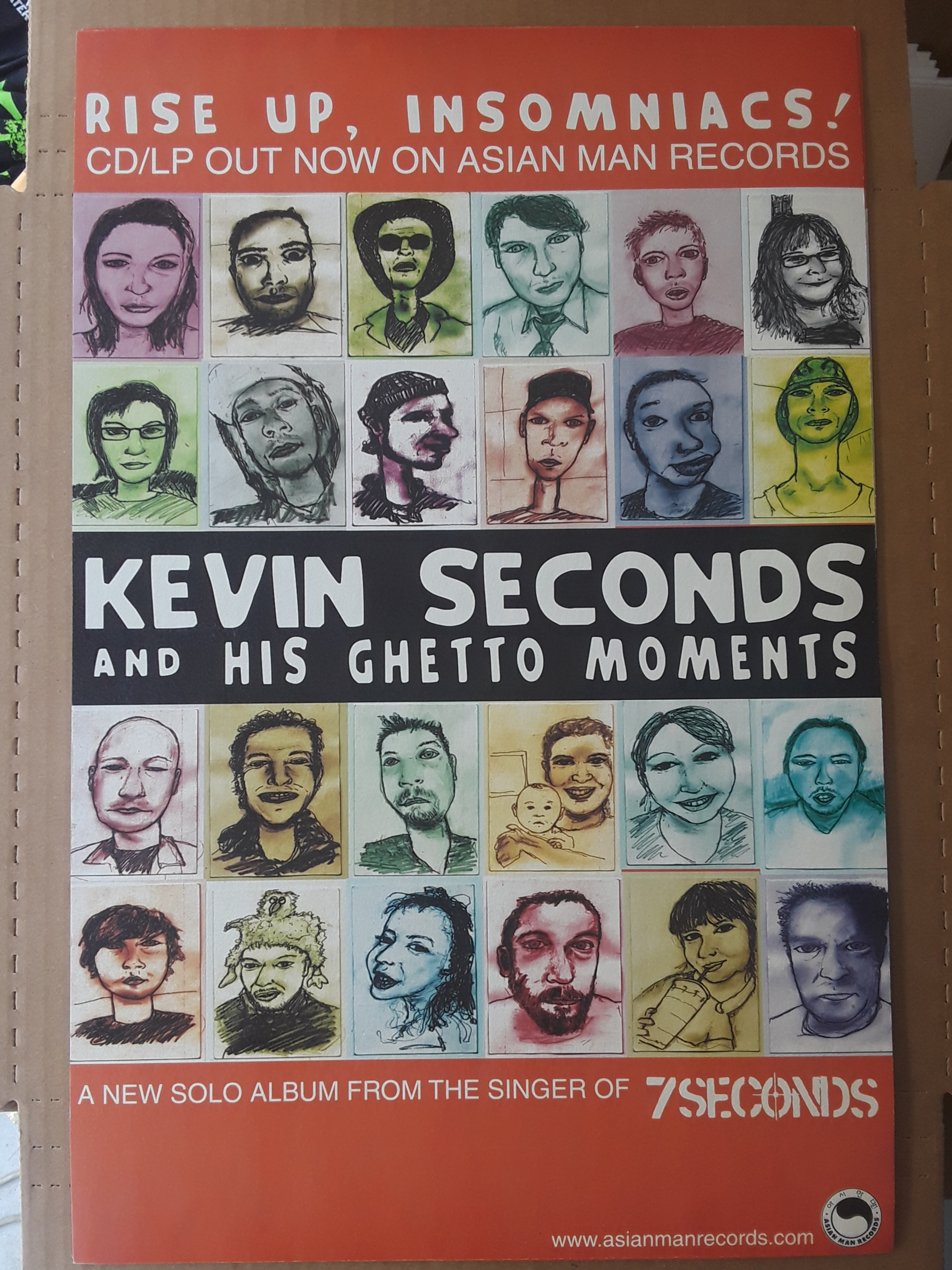 KEVIN SECONDS rise up poster