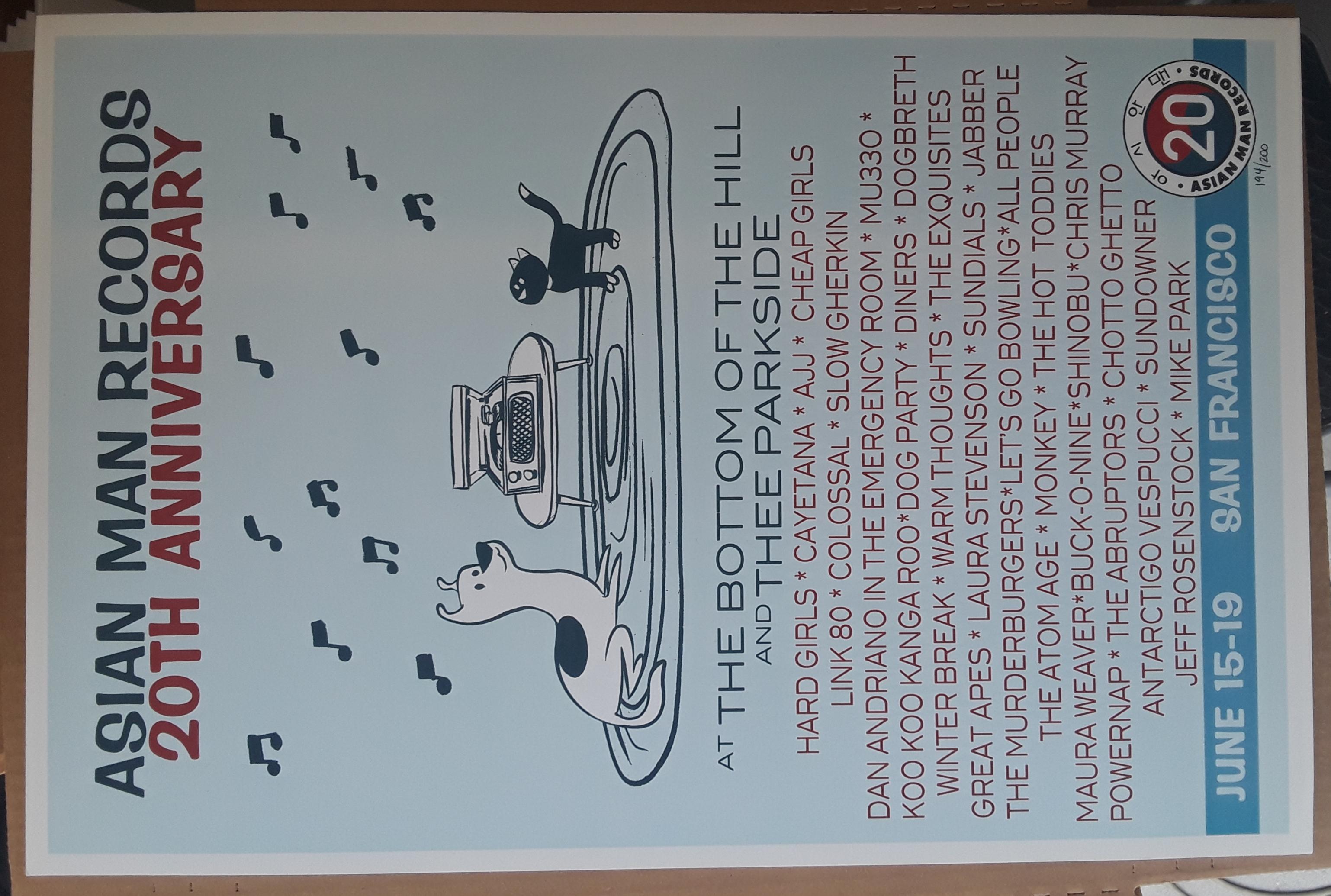 AMR 20 YR ANNIVERSARY poster