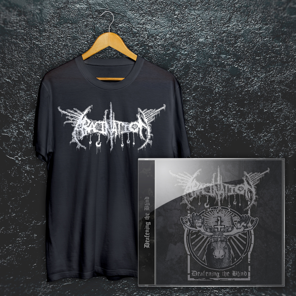 """Abacination"" Shirt + ""Deafening the Blind"" DEMO EP Bundle:"