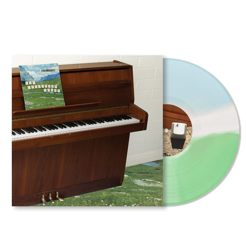Grandaddy - The Sophtware Slump ..... on a wooden piano - Tri-Stripe Vinyl + Shirt Bundle