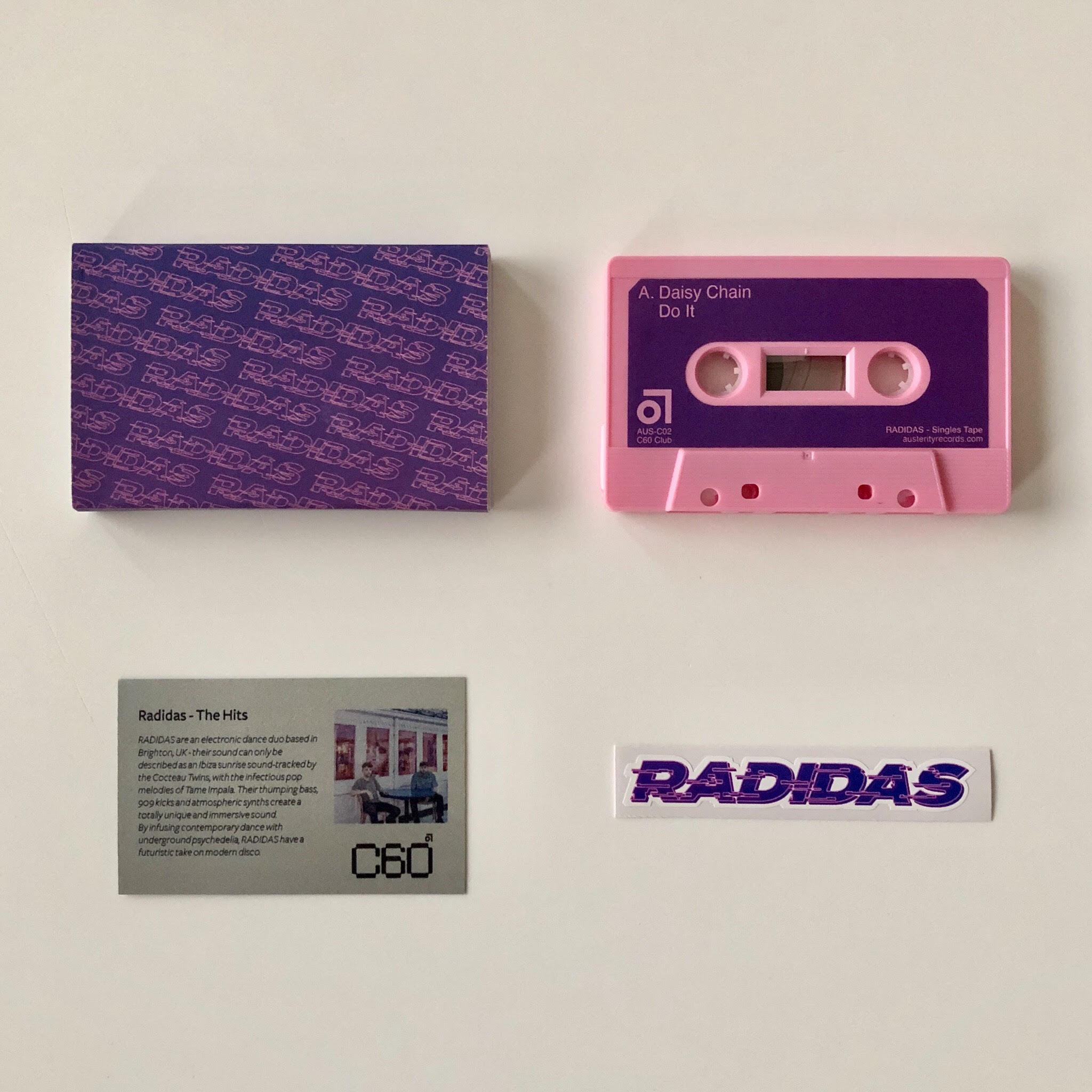 Radidas - The Hits (Very limited baby pink cassette)