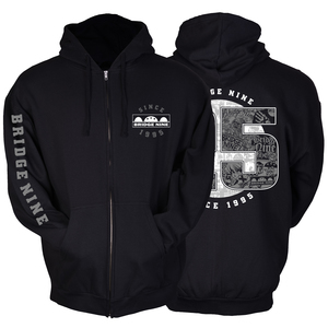 Bridge Nine '25th Year Anniversary' Zip-Up Hoodie