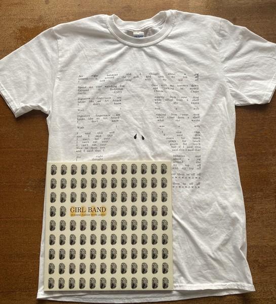 Pears For Lunch Lyric Design T-shirt + HHWJ LP Bundle