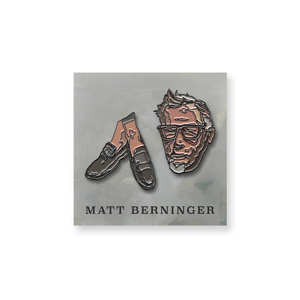 Matt Berninger Two Piece Enamel Pin-Set W/ Backing Card + Vinyl / CD / Download (Optional)