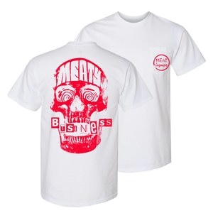 Meaty Business Pocket T-Shirt (White)