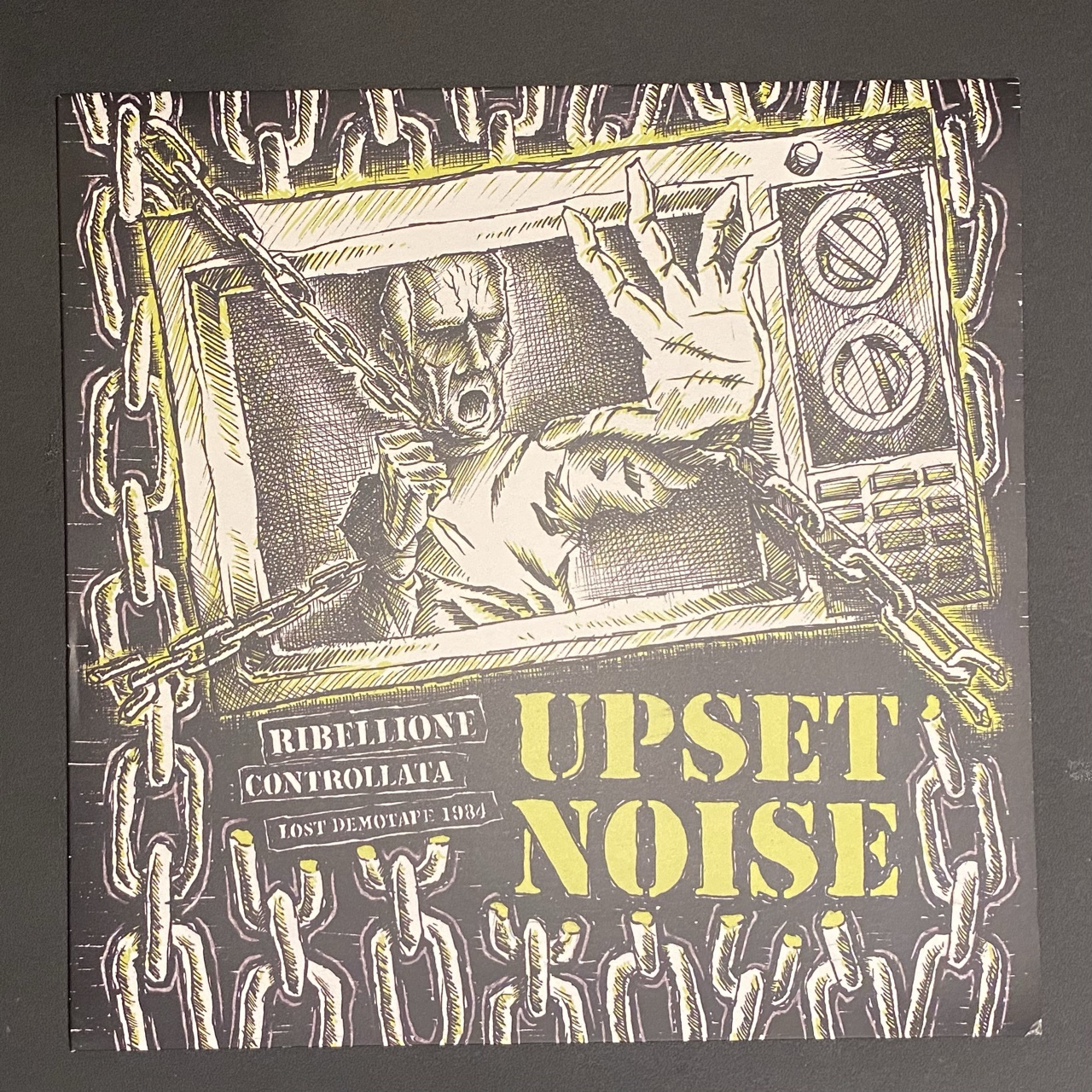 """*used* UPSET NOISE - Rebellione Controllata Lost Demo tape 1984 12"""" (one sided)"""