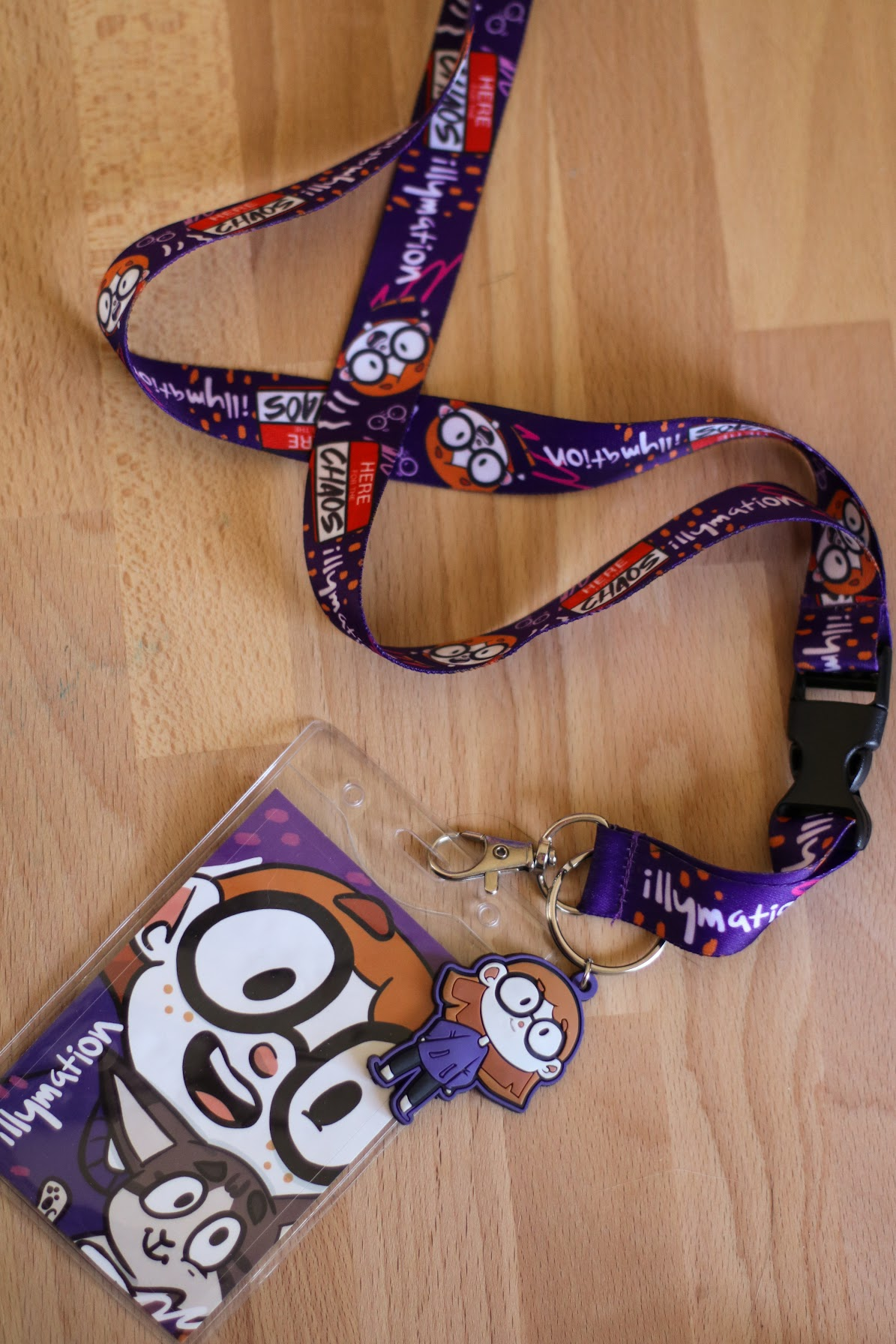 Here For The Chaos Lanyard