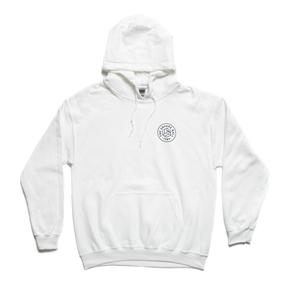 White Chest Logo Hoodie