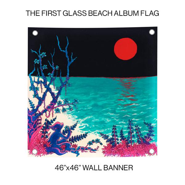 Glass Beach - the first glass beach album Wall Banner Flag