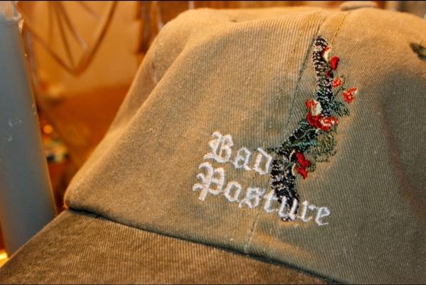 bad posture Dad Hat