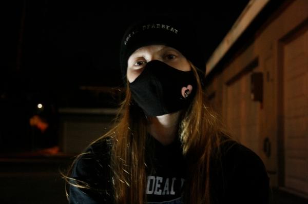 Black Logo Face Masks