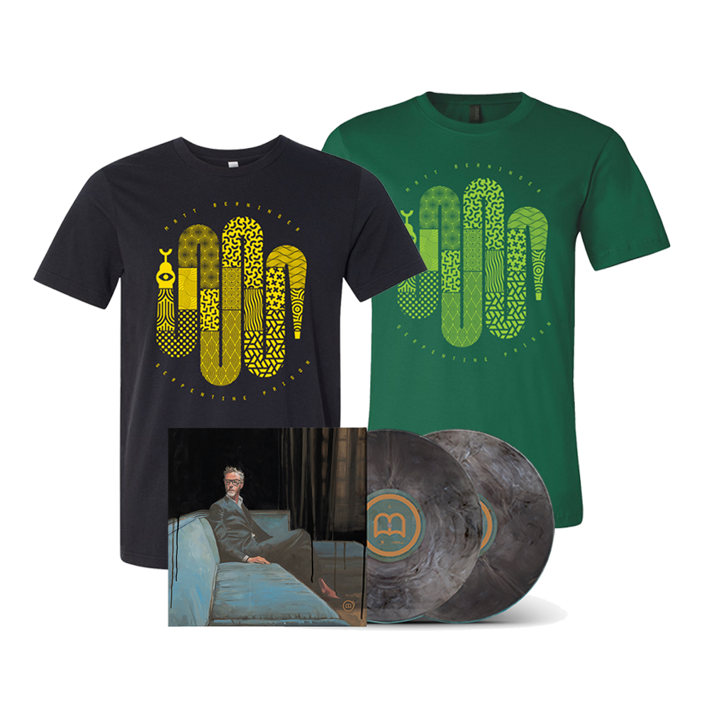 Signed Grey Marble Deluxe 2xLP + Choice of T-Shirt