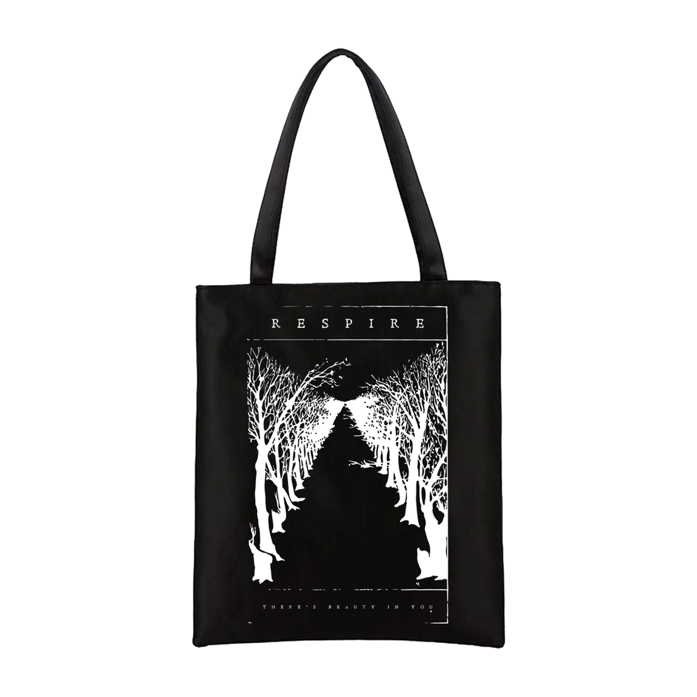 Respire - Black Line tote bag PREORDER