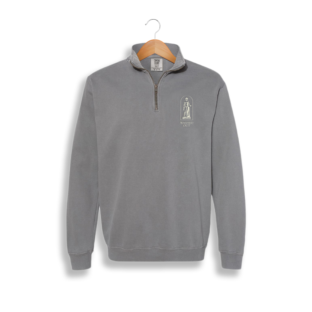 Purple Noon Embroidered Quarter Zip