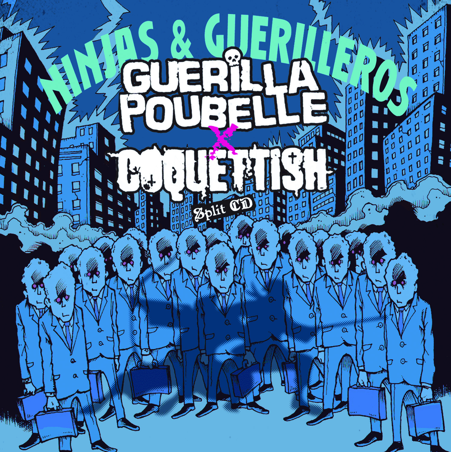 Guerilla Poubelle + Coquettish - split CD