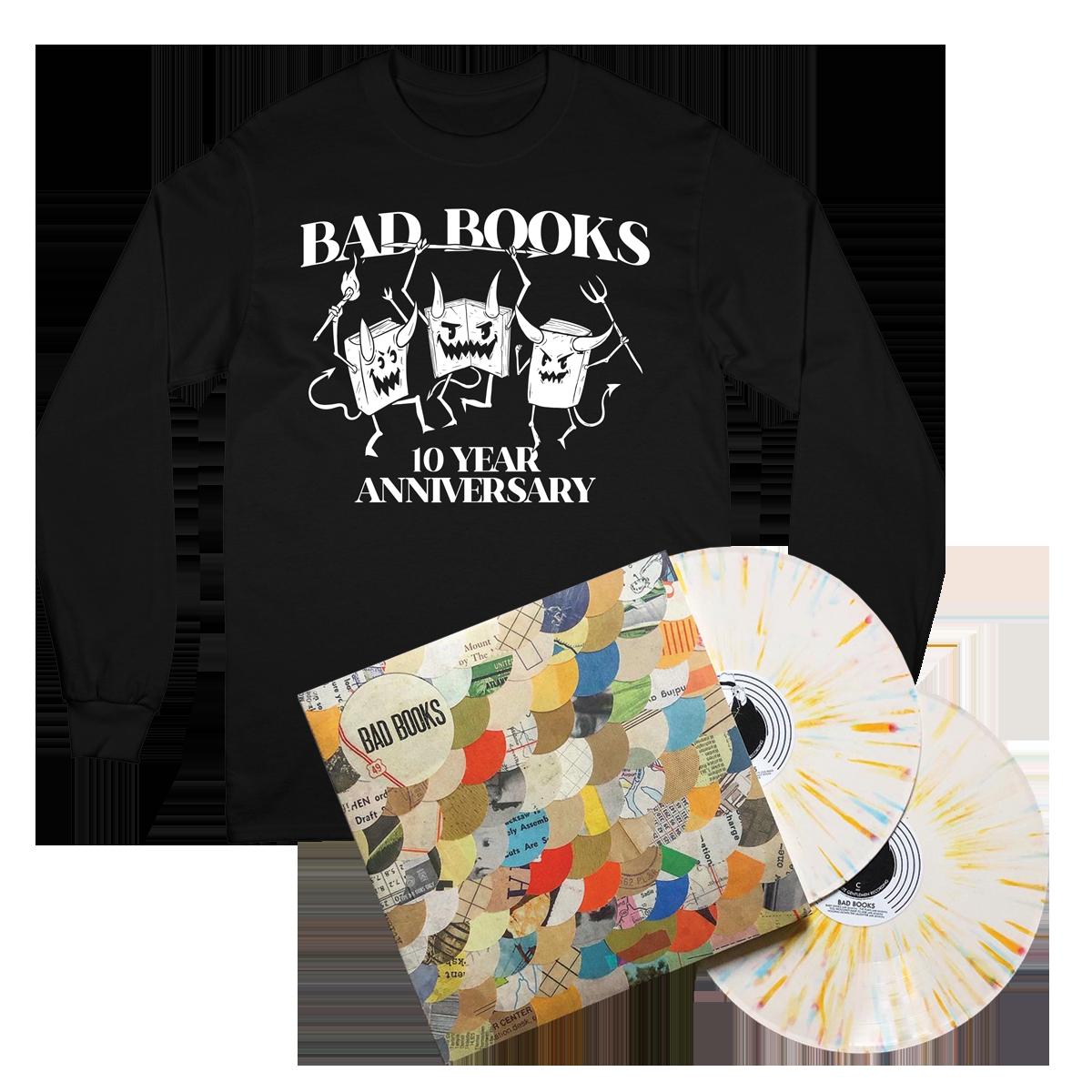 Anniversary LP + Evil Books Crewneck