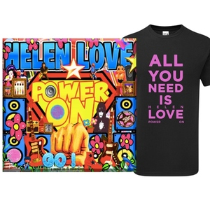 Helen Love Power On Vinyl and Shirt
