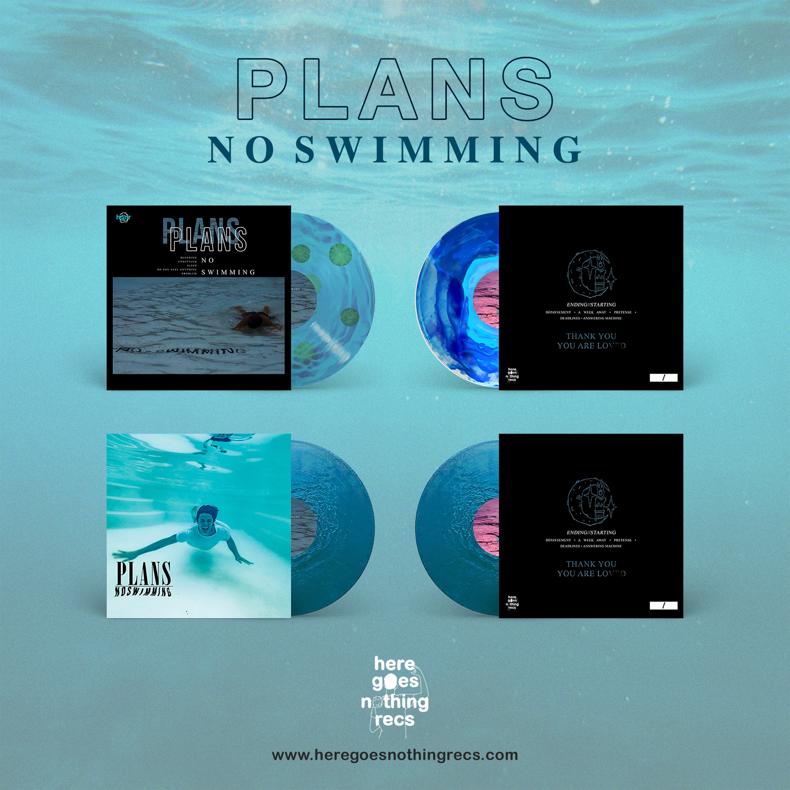 "Plans - ""No Swimming"" and ""Ending // Starting"""