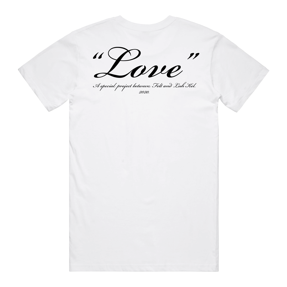 L.O.V.E. Tee by FELT - White