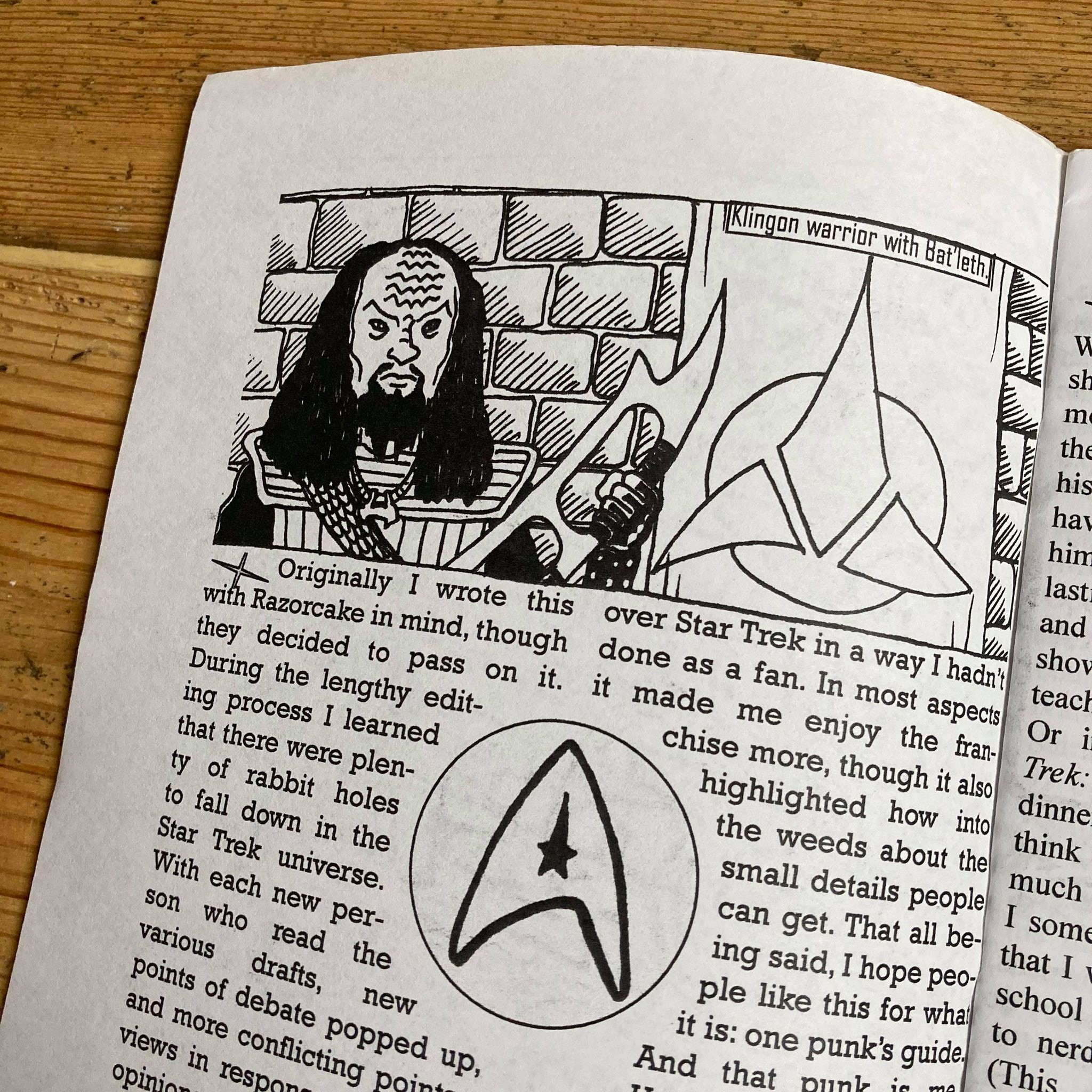 One Punk's Guide to Star Trek zine by Kayla Greet