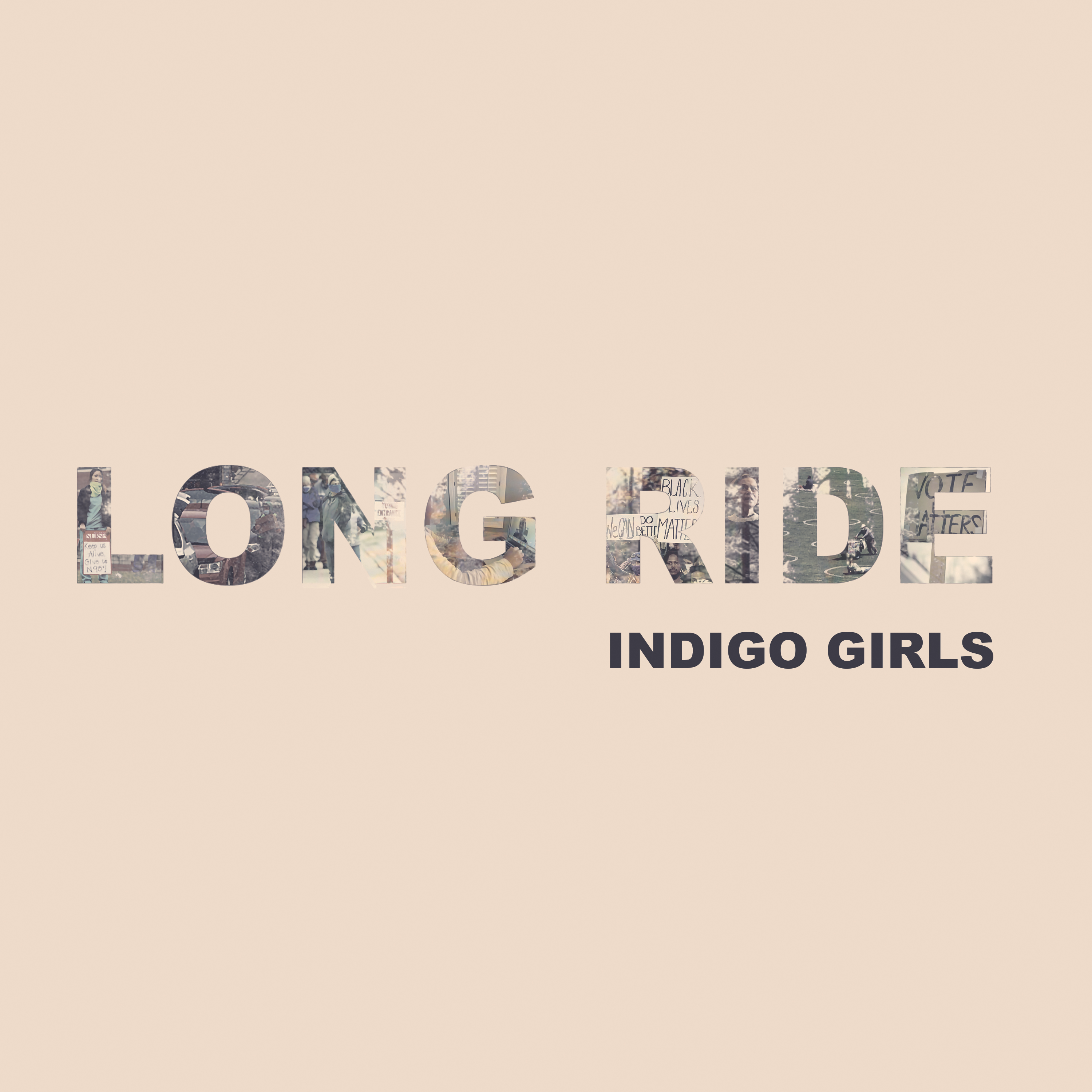 """Long Ride / Look Long Acoustic SIGNED Turquoise Blue 7"""" (350 Available)"""