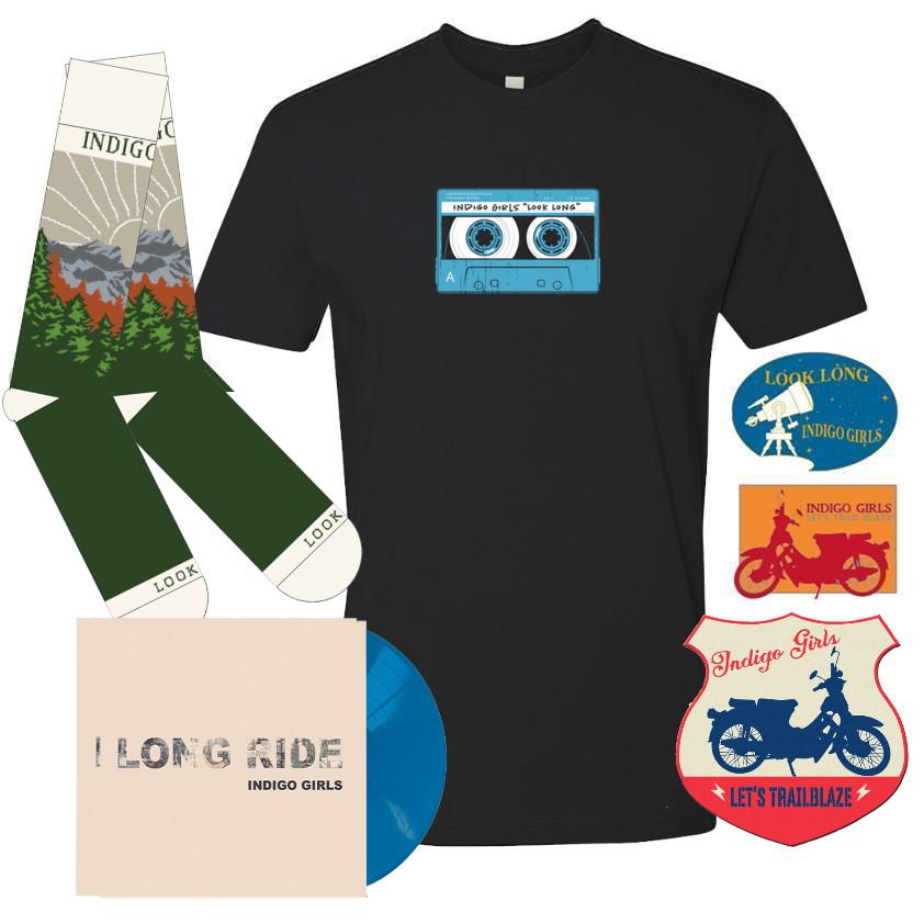 "Long Ride / Look Long Acoustic SIGNED Turquoise Blue 7"" Select Bundle"