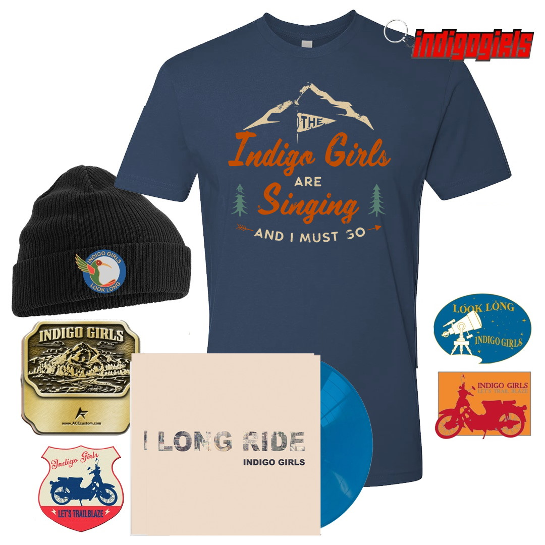 """Shit Kickin'"" Long Ride / Look Long Acoustic SIGNED Turquoise Blue 7"" bundle"
