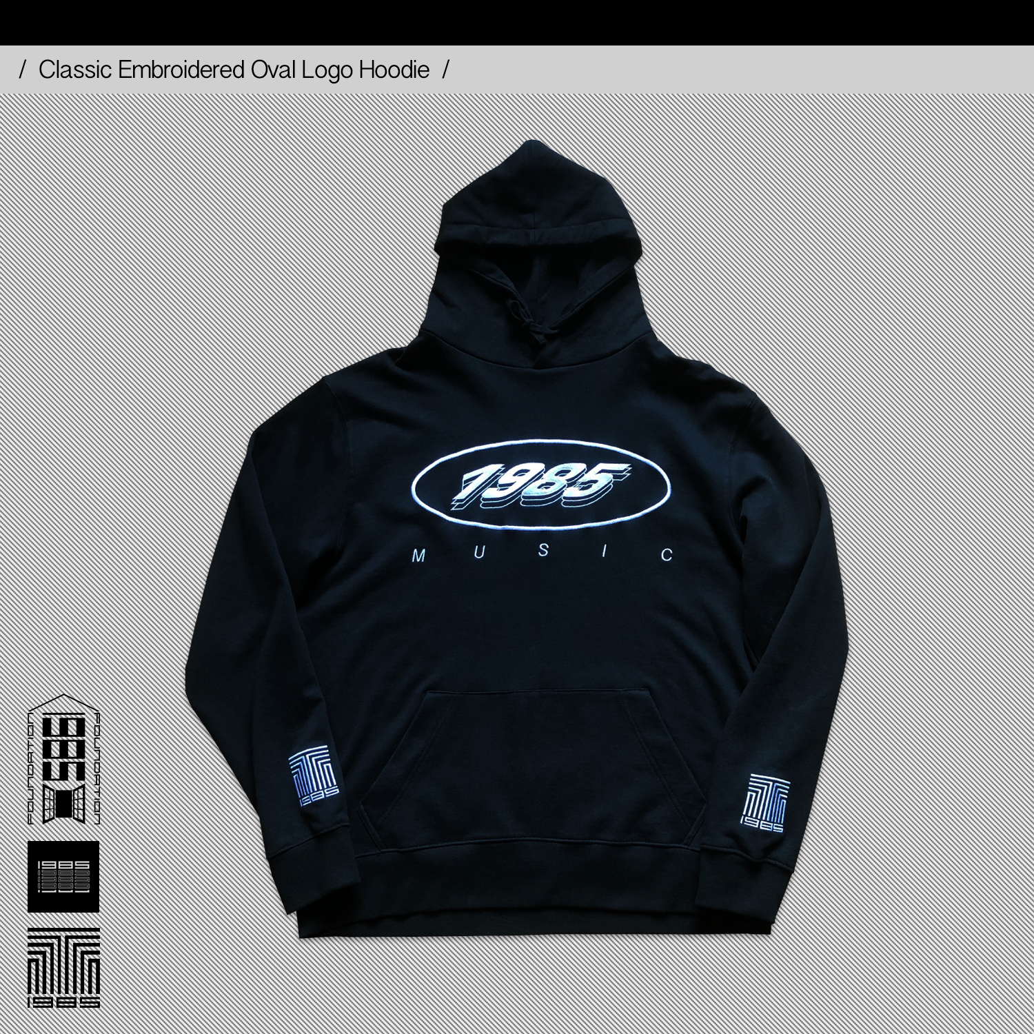 Classic Embroidered Oval Logo Hoodie