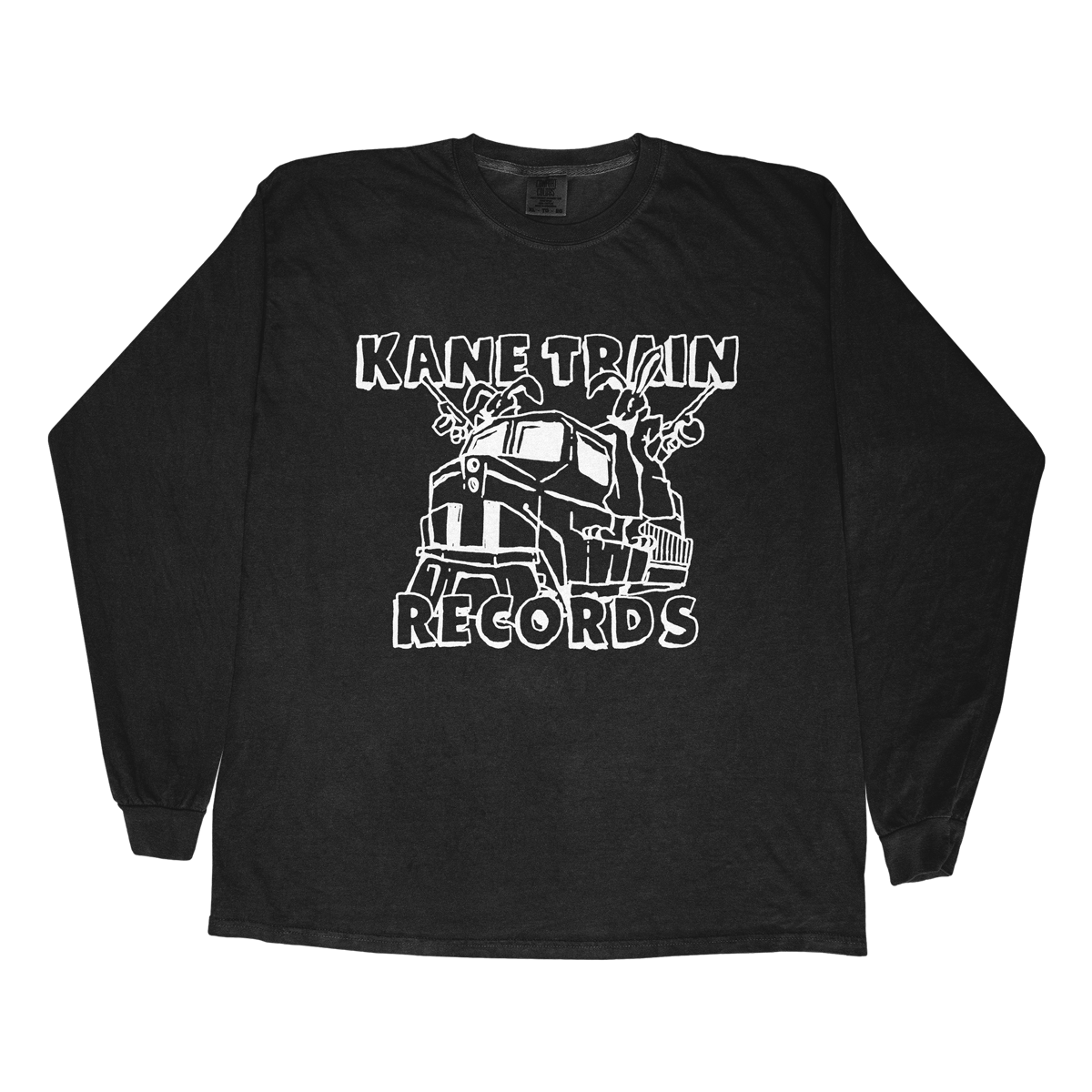 Kane Train Records Long Sleeve - Black