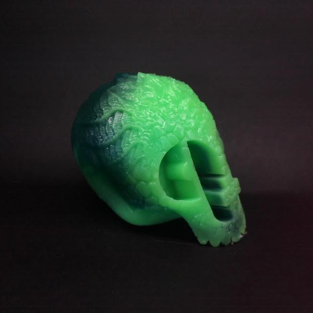 Green Reptile Skull