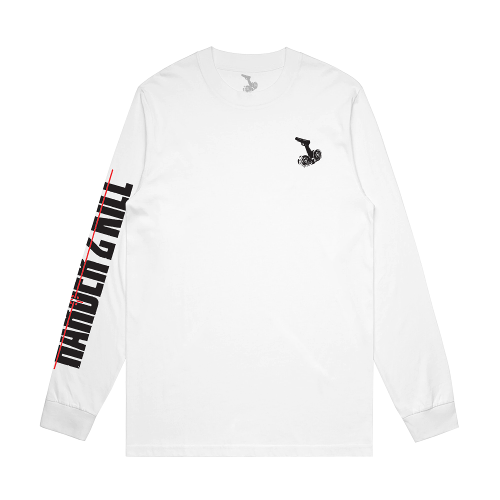 HARDER 2 KILL X HANDCHOPPA LONGSLEEVE TEE - WHITE