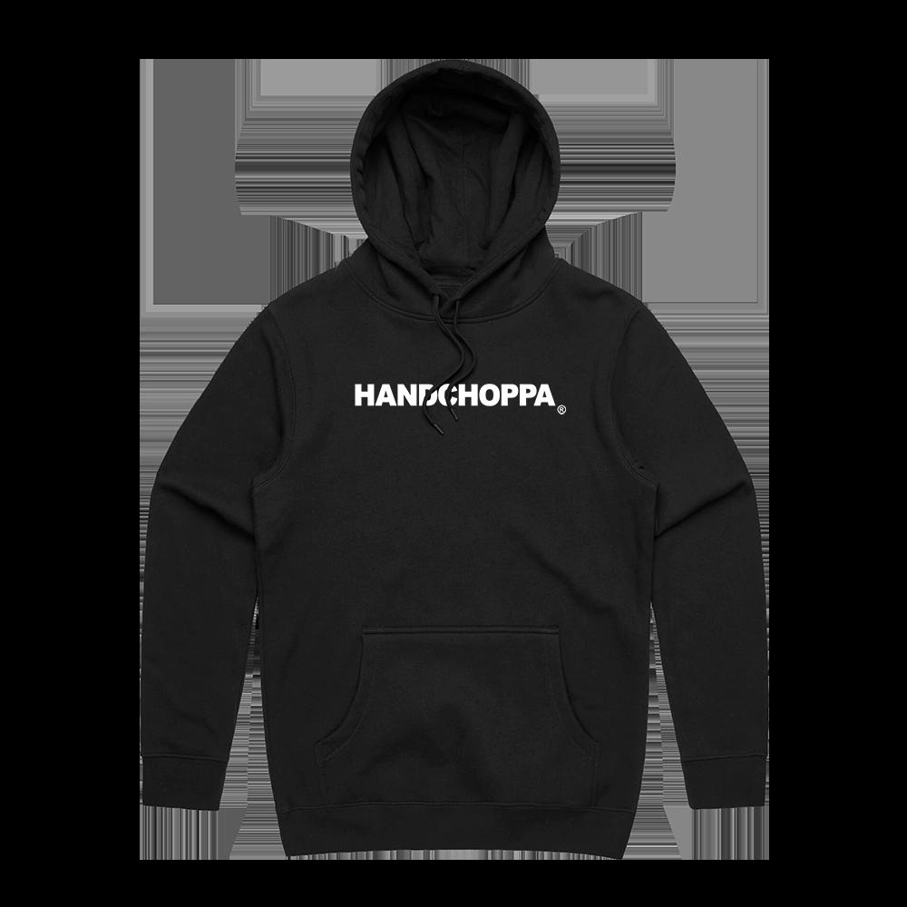 HANDCHOPPA LOGO HOODIE - BLACK