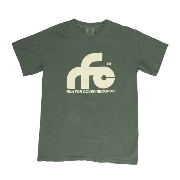 Run For Cover - Logo Shirt (Moss Green Comfort Colors)