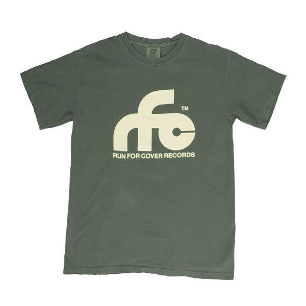 Run For Cover - Logo Shirt (Moss Green Comfort Colors)