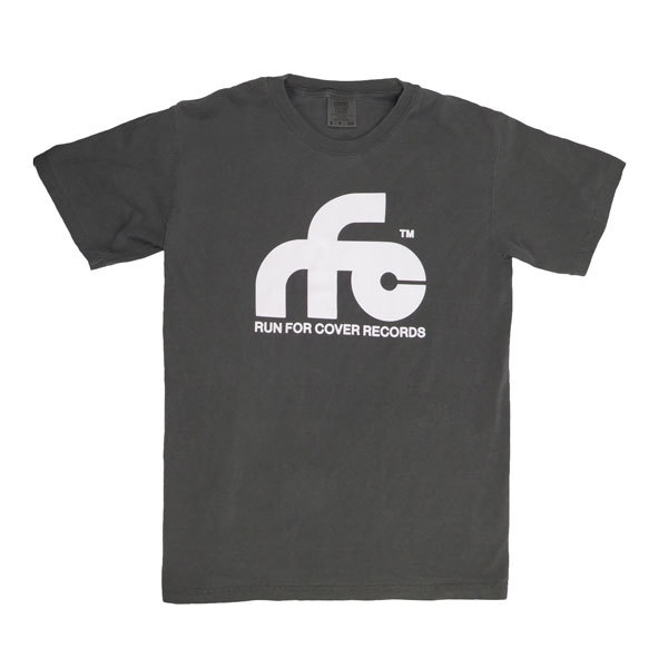 Run For Cover - Logo Shirt (Pepper Gray Comfort Colors)