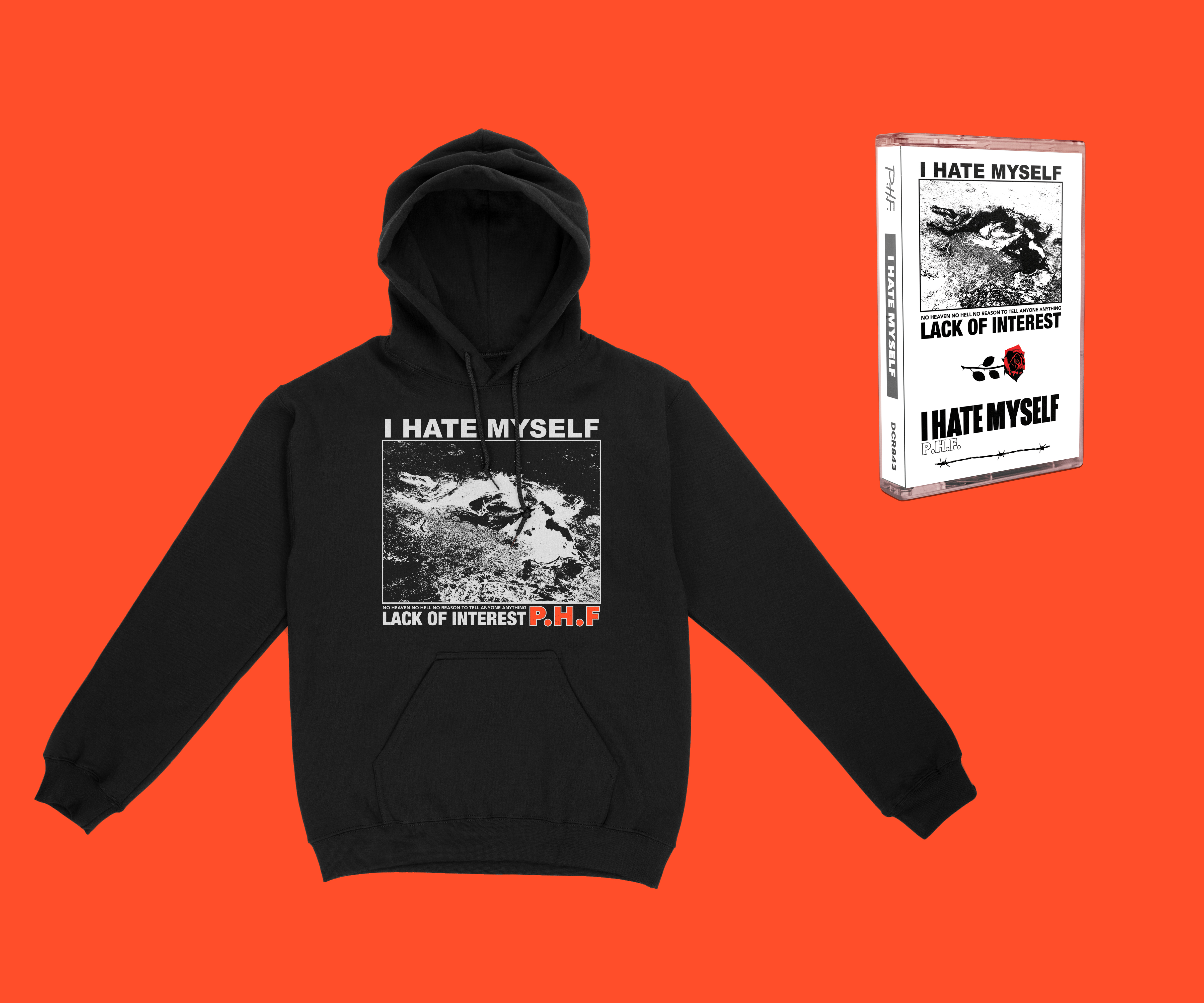 P.H.F. - I Hate Myself (Shirt, Hoodie, & Cassette)