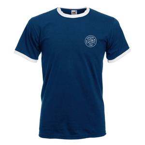 Navy/White Ringer Chest Print T-shirt