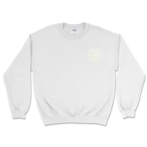 White w/ Stone White Chest Logo Sweatshirts