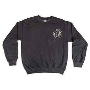 Dark Heather w/ Stone White Chest Logo Sweatshirts