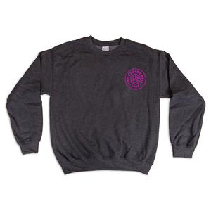 Dark Heather w/ Pink Chest Logo Sweatshirts