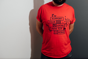 Leeds Indie Food Red T-Shirts